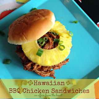 Hawaiian BBQ Chicken Sandwiches {in the crock pot}.