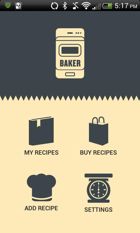 The Baker App- screenshot