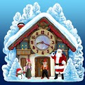 Christmas House Clock widget icon