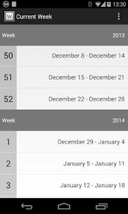 Current Week Screenshot 1