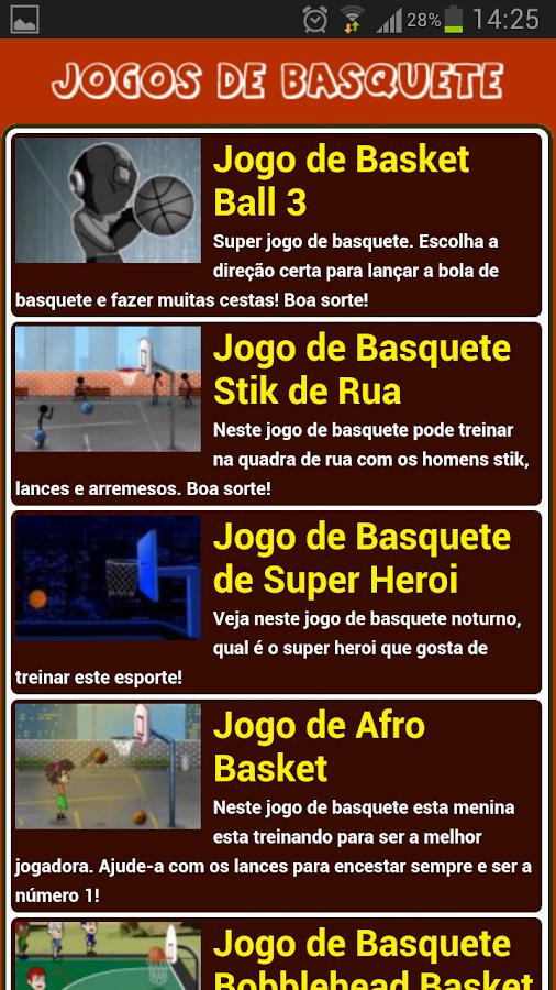 Jogos de Basquete - screenshot