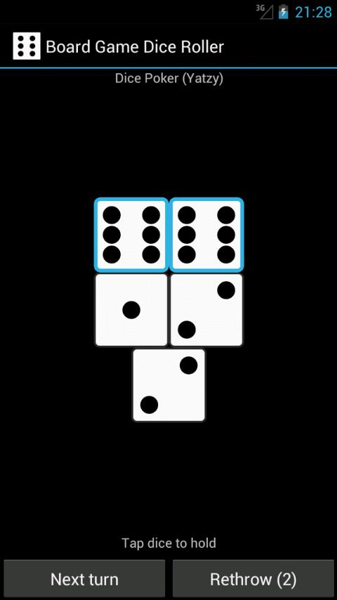 Board Game Dice Roller- screenshot