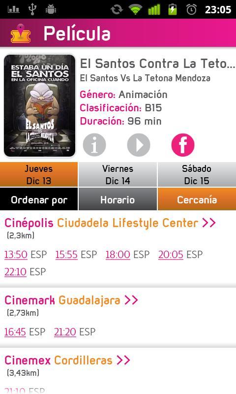 Picket+ Cartelera de Cines - screenshot