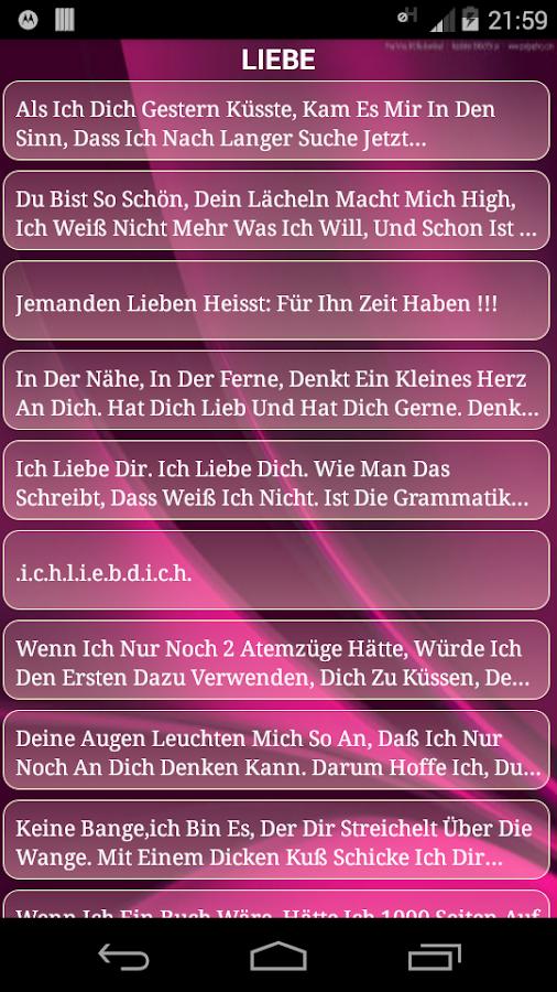Liebesspruche Spruche Liebe Android Apps On Google Play