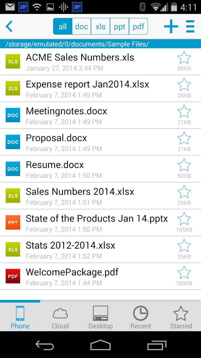 Docs To Go™ Premium Key Android 1