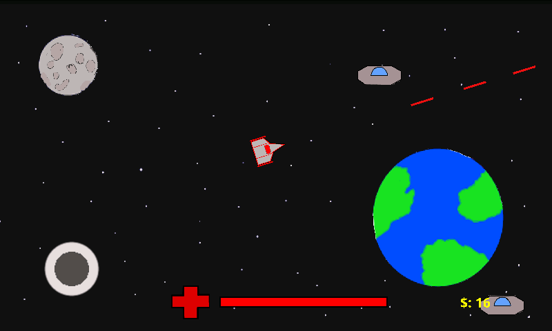 Alien Invaders 2D- screenshot