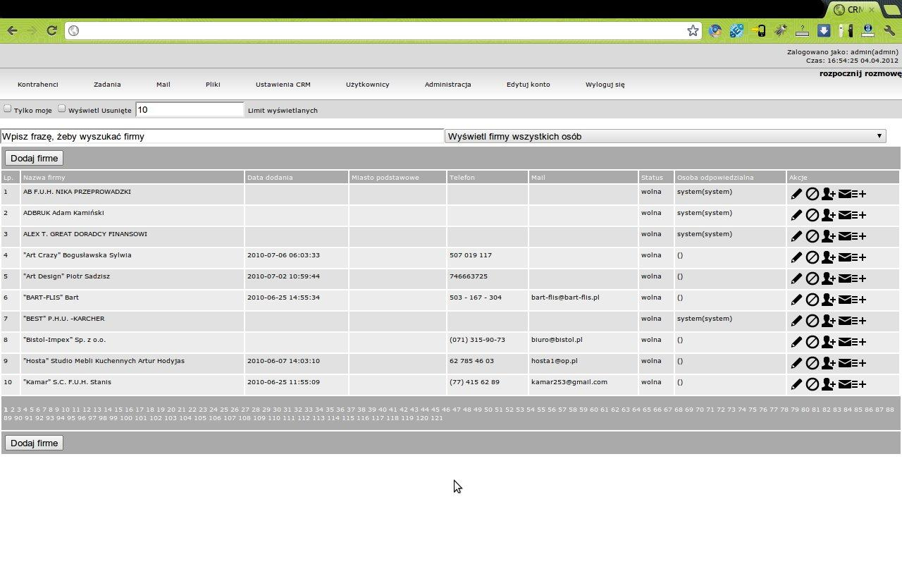 Z15 CRM - CRM sys for business- screenshot