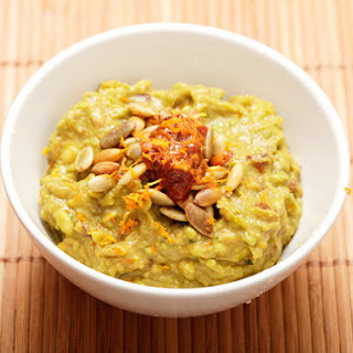 Chipotle-Orange Guacamole with Toasted Pumpkin Seeds