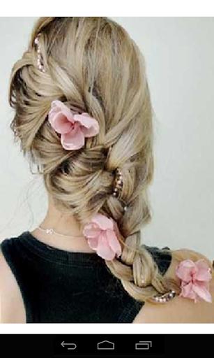 一步一步编织头发