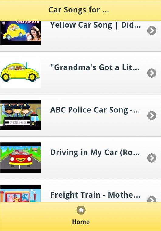 car songs for kids screenshot