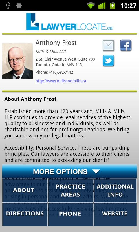 LawyerLocate- screenshot