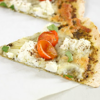 Pesto And Ricotta Tortilla Pizza
