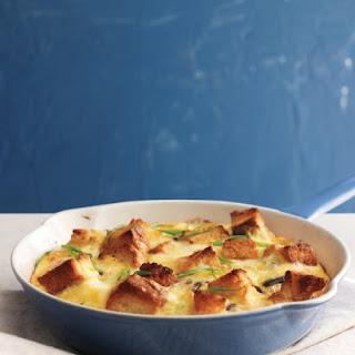 Mushroom, Cheddar, and Toast Frittata