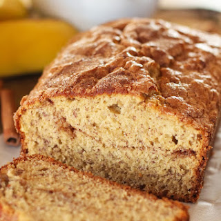 Cinnamon Sugar Topped Banana Bread