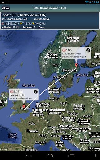 Stockholm Airport+Flight Track
