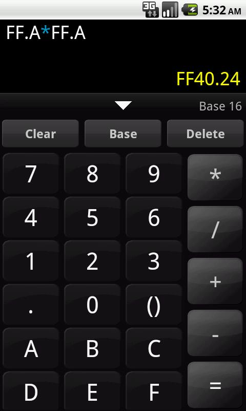 Any Base Calculator - screenshot