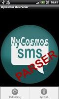 Screenshot of MyCosmosSMS Parser