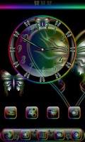 Screenshot of Butterfly Rainbow Clock Widget