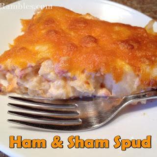 Ham Sham Spud Casserole