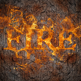 by Giles Perkins - Typography Words ( different, clouds, cool, font, yellow, fire, manipulation, red, words, 3d, awesome, background, vignette, burn, photoshop )