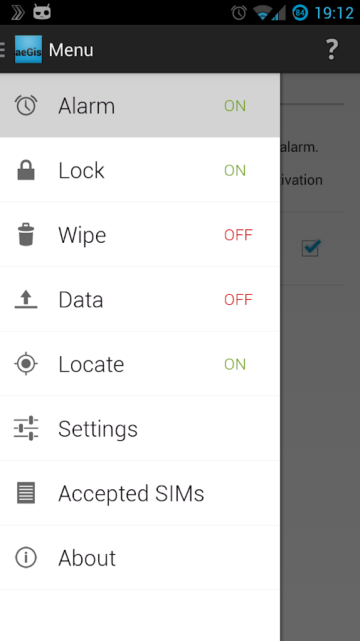 aeGis- screenshot