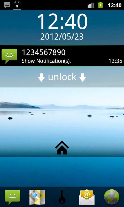 Custom Lock Screen - screenshot