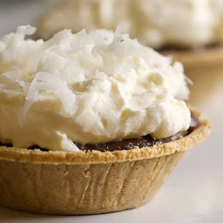 Baby Chocolate Coconut Cream Pies.