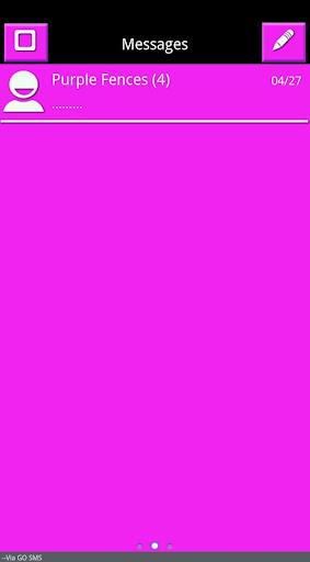Pink White Black Go SMS Theme
