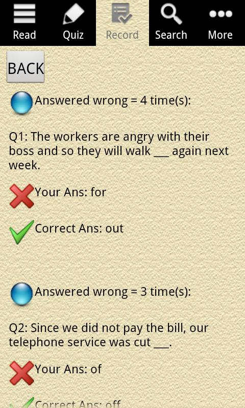 English Grammar -Phrasal Verb - screenshot