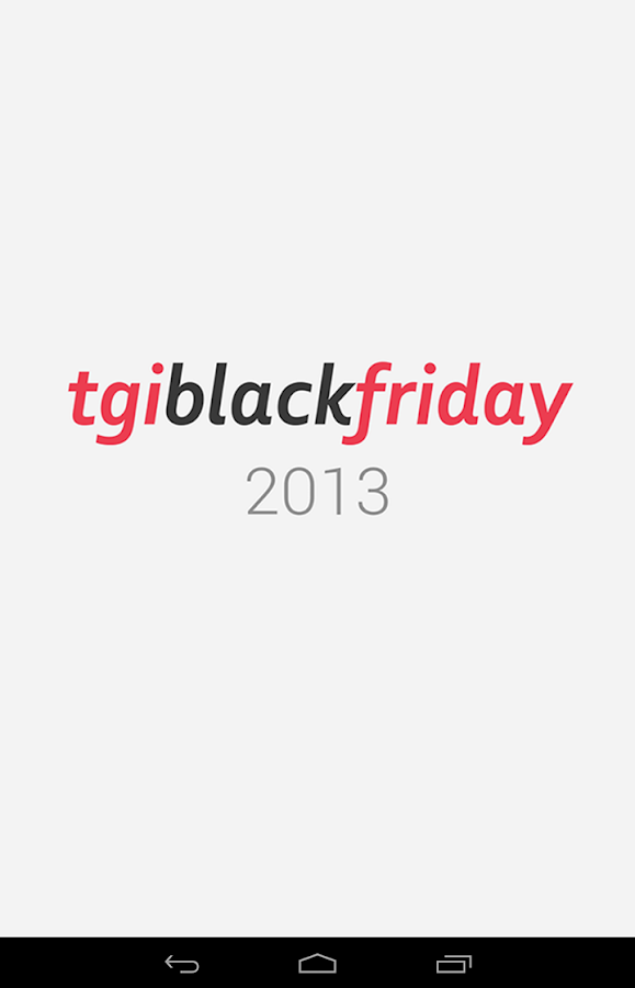 TGI Black Friday - screenshot