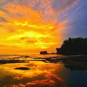 reflection of sunset by Hery Sulistianto - Landscapes Sunsets & Sunrises (  )