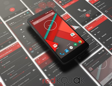CM12 Red Kojak Theme v5.b