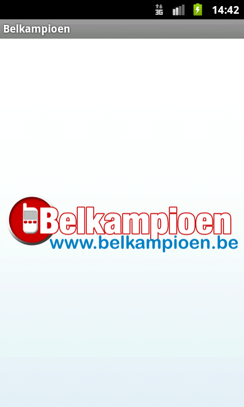 Belkampioen- screenshot