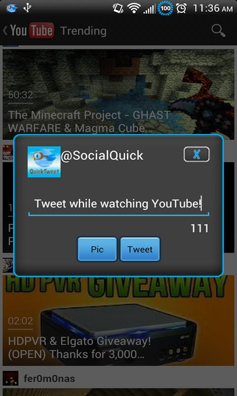 QuickTweet PRO - screenshot