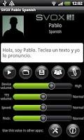 Screenshot of SVOX Spanish Pablo Trial