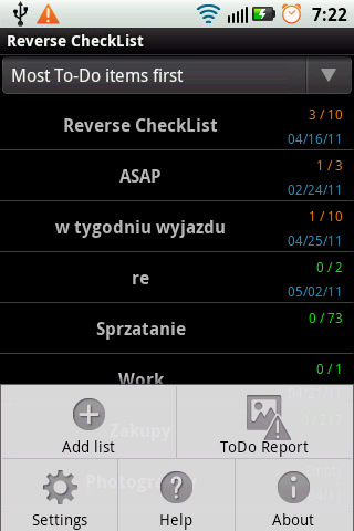 Reverse CheckList- screenshot