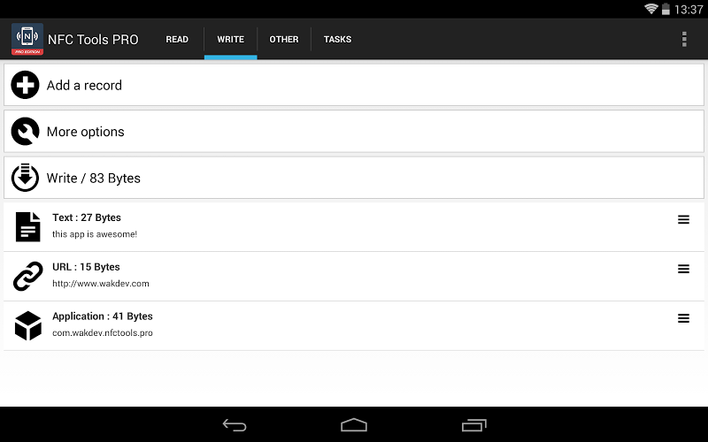 NFC Tools - Pro Edition Screenshot 10