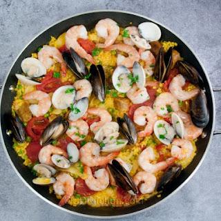Shrimp And Sausage Paella.