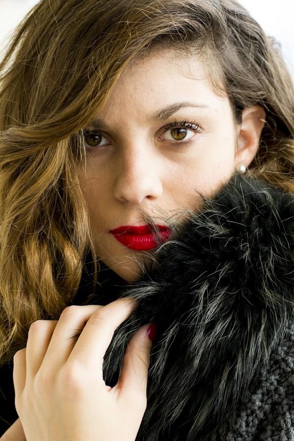 1930s style  by Marigianna Xatzidaki - People Fashion ( hand, woman, blond, red lips, fur, inspired,  )