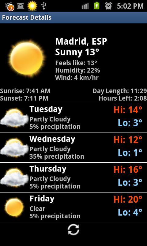 Rings Digital Weather Clock- screenshot