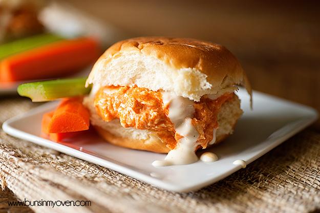 Pulled Buffalo Chicken Sandwiches Recipe