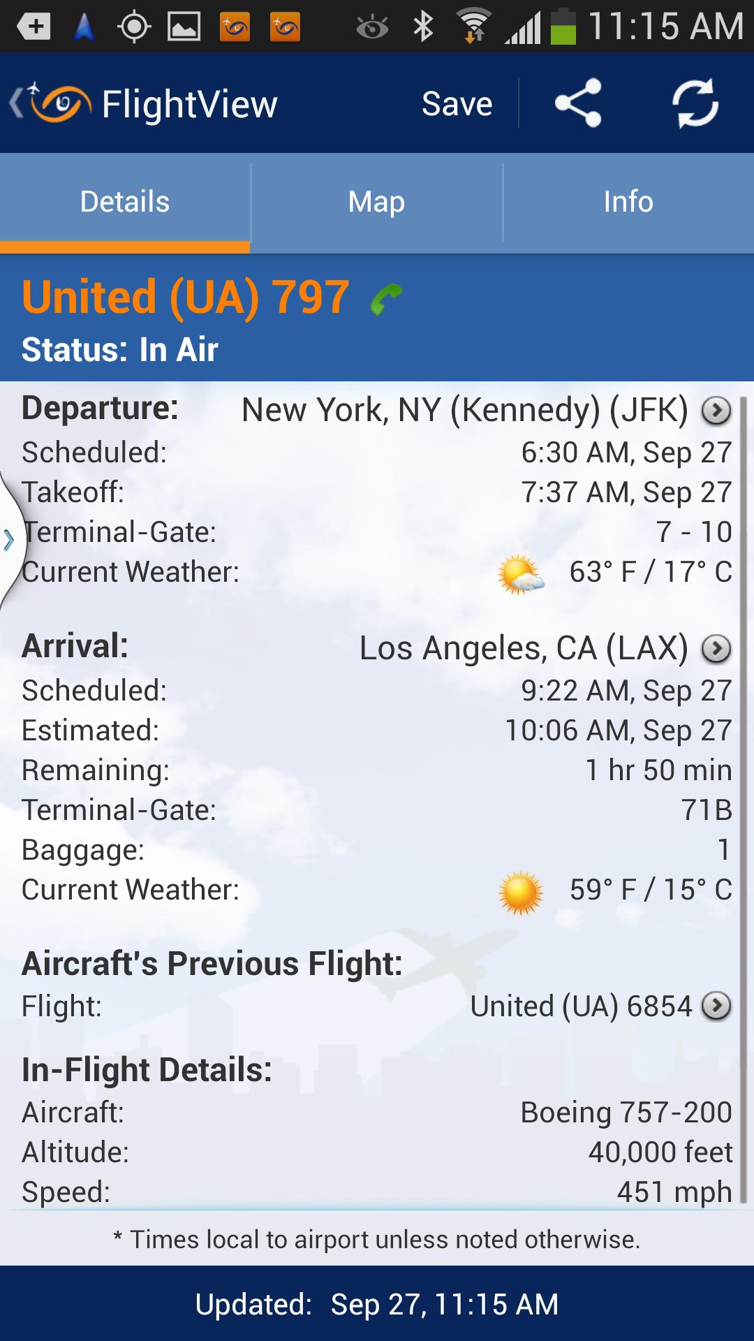 FlightView Elite FlightTracker screenshot #3