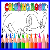 Coloring Book : Speed Hedgehog