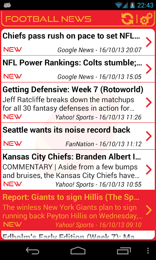 Kansas City Football News - screenshot