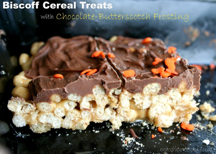 Biscoff Cereal Treats W/Chocolate-Butterscotch Frosting Recipe
