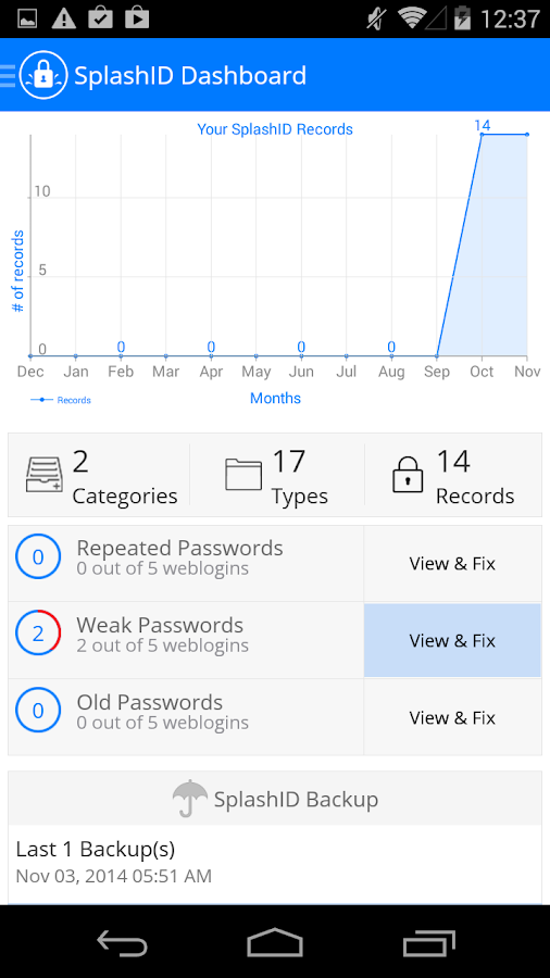 SplashID Safe Password Manager - screenshot