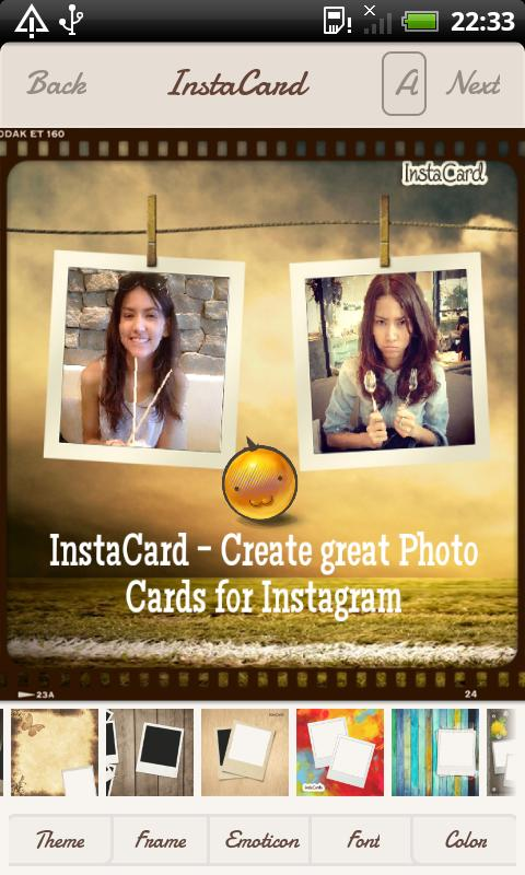 InstaCard for Instagram - screenshot