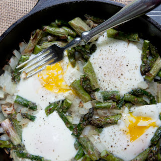 Midnight Asparagus with Eggs