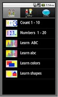 Screenshot of Learn English ABC number color