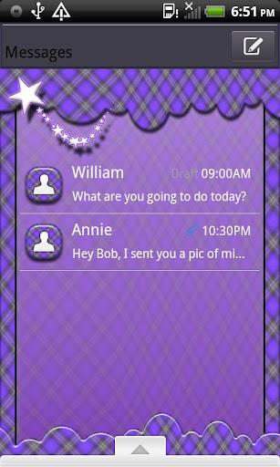 GO SMS THEME TwinklingPlaid2